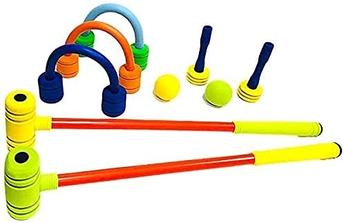 WXFCAS Croquet Juego Bolsa de Almacenamiento, Interior y al Aire Libre Mini Golf Croquet de Dibujos Animados, niños niños niños Juguetes educativos