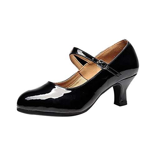 Damen Spanische Flamenco Pumps Tanzschuhe Trainingsschuh Jazzschuhe Mittelhohe Weiche Sohle Latein Salsa Tango Dance Schuhe
