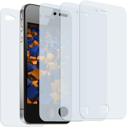 mumbi 3+1 Bildschirmschutzfolie iPhone 4 4S (3X VORDERseite + 1x RÜCKseite)