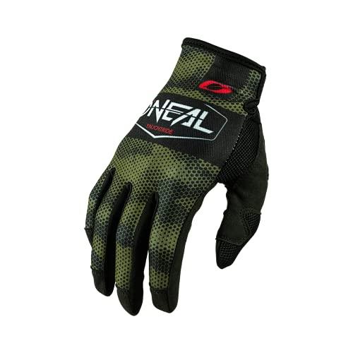 O'NEAL | Fahrrad- & Motocross-Handschuhe | MX MTB DH FR Downhill Freeride | Langlebige, Flexible Materialien, belüftete Nanofront-Handpartie | Mayhem Glove | Erwachsene | Schwarz Grün | Größe L