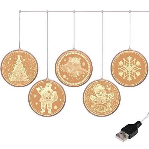 5 luces LED cadena Navidad Decorativas luces Festival decoración cortina luces USB Popsicle luces