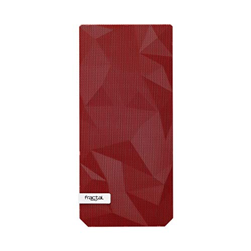 Fractal Design Front Panel Meshify C - Replacement Panel for Meshify C - Front Filter Included - Fits All Meshify C ATX Cases - Easy-to-Clean Front Filter – Easy to Install - Red