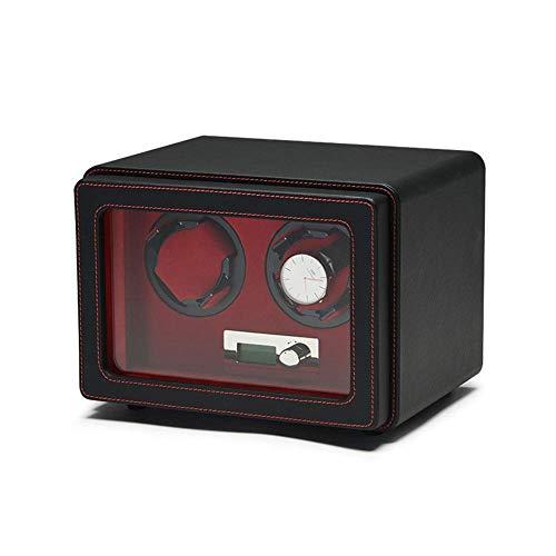 SYWJ Antimagnético Enrollador de Reloj Inteligente, Caja de Almacenamiento automática de Relojes MDF + Cuero Resistente al Desgaste Hecho a Mano: Cuatro Estilos para Elegir (tamaño: B)