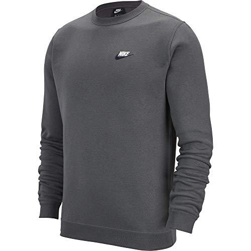 Nike Men's Sportswear Crew Dark Grey/Obsidian/White Size Small