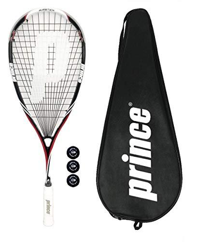 Prince Raqueta de Squash Airstick Lite 550 (Varias Opciones) (Raqueta + Bolas)