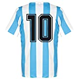 1986 Argentinien Home Retro Trikot + No 10 - M