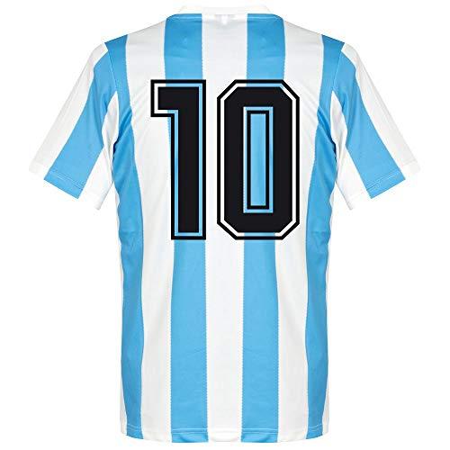 1986 Argentinien Home Retro Trikot + No 10 - XXL
