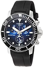 Tissot mens Seastar 660/1000 Stainless Steel Casual Watch Black T1204171704100