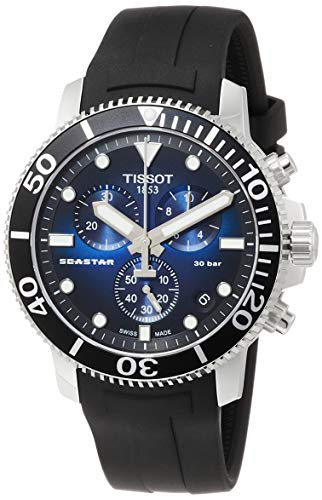 Tissot Analogue Men's Watch (Blue Dial Black Colored Strap)