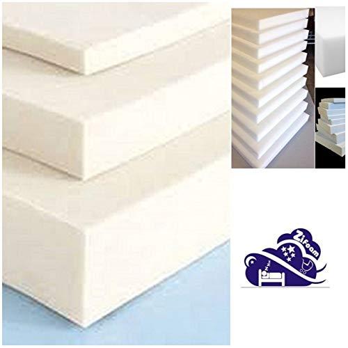 Grade A Replacement Foam Mattress Top COT Junior Kids Bed Choose from Size,(Cut Any Size Foam) (84x44x4cm (Crib))