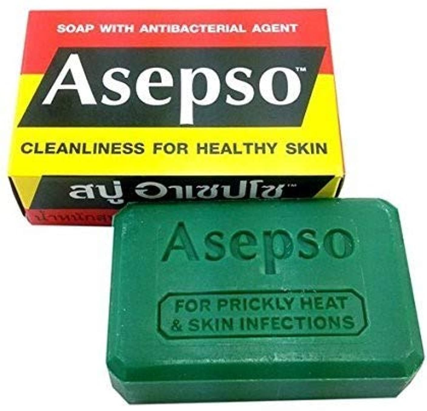 キルス憂鬱な思慮のないNi Yom Thai shop Asepso Soap with Antibacterial Agent 80 Grams
