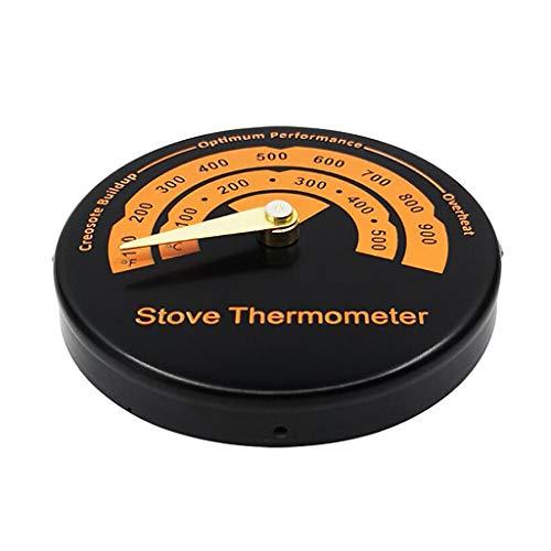H HILABEE Termómetro de Chimenea Quemador de Troncos de Madera Tubo de Estufa Medidor de Temperatura de Chimenea