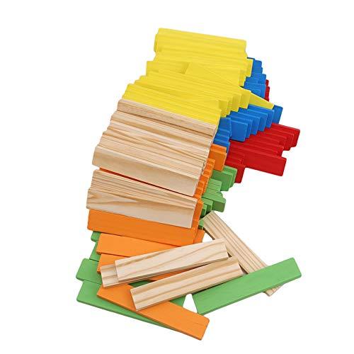 FEITeng Juego familiar para niños apilador de madera con torre inclinada para juegos de regalo para niños