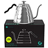 Gooseneck Kettle - Coffee Gator Pour Over Kettle - Precision-Flow Spout and Thermometer - Barista-Standard...