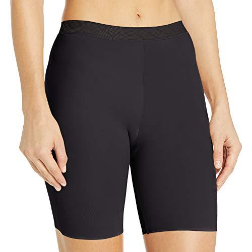 Vassarette Women's Invisibly Smooth Slip Short Panty 12385, Black Sable, Small/5