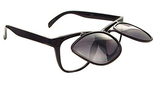"""""""The Studious"""" Flip Up Indoor/Outdoor Reading Sunglasses - NOT Bifocals (Black, 3 x)"""