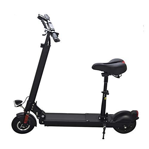 ONLYU Elektro-Scooter, Folding Aluminiumlegierung-Rochen-Fahrrad, Dreigeschwindigkeitseinstellung, LED-Scheinwerfer, Doppelfederdämpfer, Maxstroke 65Km [Energie-Effizienzklasse A],8.8AH