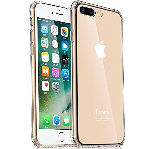 Migeec Hülle für iPhone 6 Plus Und iPhone 6s Plus Transparent [Stoßfest] Weiche Silikon [Kratzfest] Flex TPU Bumper handyhülle Durchsichtige Schutzhülle