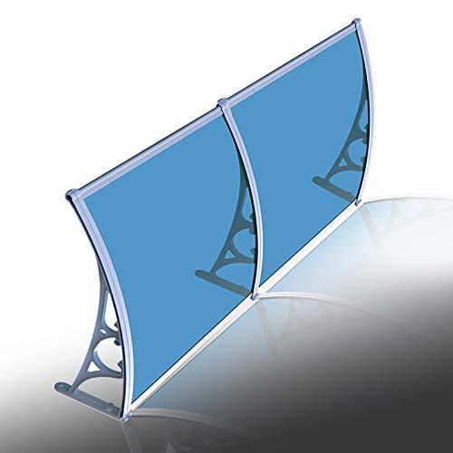 Marquesina Puertas Exterior, Tejadillo Protección Azul Policarbonato Porche Lluvia Abrigo, Bloque UV Cubrir para Exterior Terraza, Tamaño Personalizado MYAN (Size : 200cm x 76cm)