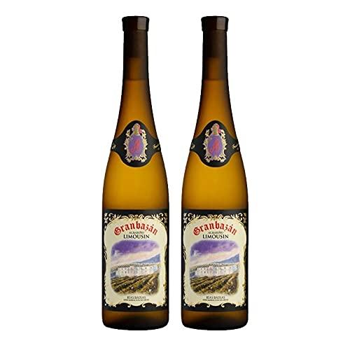 Vino Blanco Albariño Granbazan Limousin de 75 cl - D.O. Rias Baixas - Bodegas Granbazan (Pack de 2 botellas)