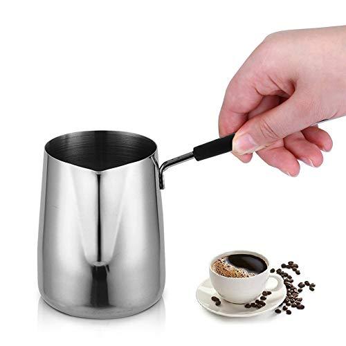 Joyit - Calentador de leche para café con boquilla 304 (18/8) de acero inoxidable (600 ml)