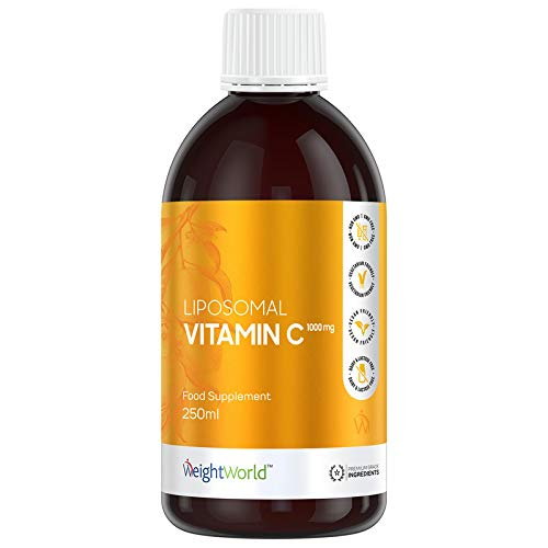 Liposomal Vitamin C 1000mg - 250ml - High Absorption Concentrated Liquid Formula, Vitamin C contributes to The Normal Function of The Immune System & A Reduction in Tiredness and Fatigue - Vegan