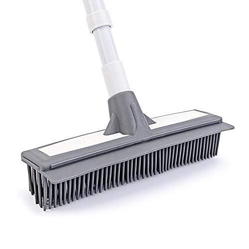 yqs Escoba al aire libre, mango largo cepillo de limpieza poste azulejos cepillo baño pared piso rotación libre baño herramientas de limpieza de aluminio estirable