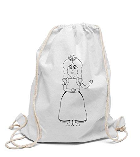 Turnbeutel zum selbst gestalten Kinderrucksack Prinzessin zum bemalen und ausmalen für Kindergarten Hort für Mädchen