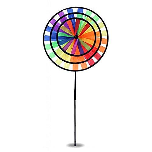 DIY Windmühle Magic Wheel Windrad Windräder Haus Garten Hof Dekoration - Biene / Delphin / Kreise Windmühle - # C