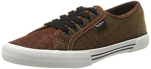 Pepe Jeans London Damen ABERLADY NUIT Sneaker, Gold (Auburn), 37 EU