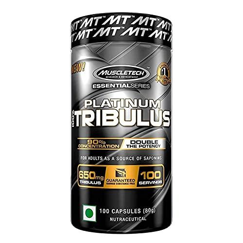 1x MuscleTech Tribulus | 100 Kapseln je Packung | Testosteron Booster Muskelaufbau Burzeldorn | Nahrungsergänzungsmittel (1er Pack)