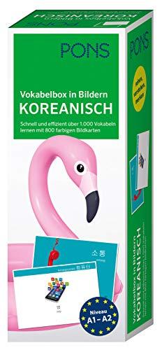 PONS Vokabelbox in Bildern Koreanisch: Schnell und effizient über 1.000 Vokabeln lernen mit 800 farbigen Bildkarten