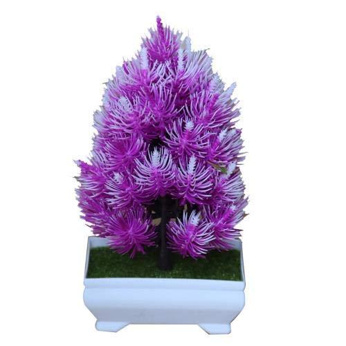 DGHJK Flor Artificial Planta Artificial 1pc Pino en Maceta Bonsai Etapa Jardín Boda Boda Fiesta Familiar Decoración Rosa Simulación Ramo Rojo