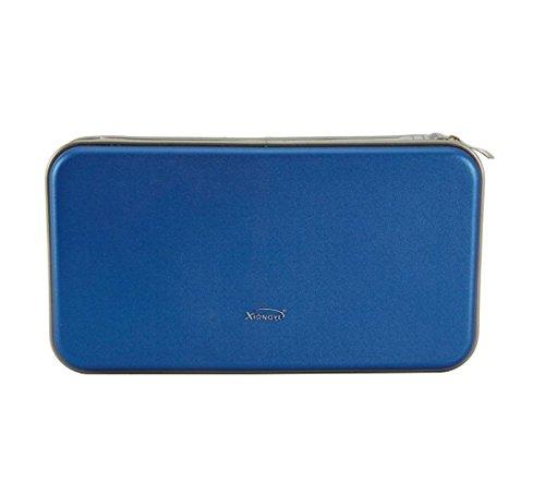 Portable Plastic 80 Disc CD DVD Wallet Storage Organizer Bag Case Blue