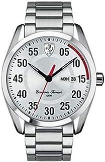 Ferrari Scuderia D50 For Men Silver Dial Stainless Steel Band Watch 830178, Japanese Quartz, Analog