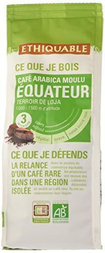 Ethiquable Café Moulu Equateur Bio et Équitable 250 g Paysans Producteurs.
