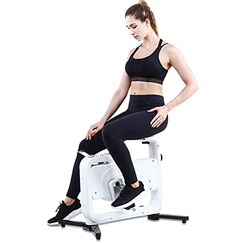 Check Out This HLEZ Fitness Exercise Bike Fitness Bike with LCD Display, Comfy Seat and Handles Blac...