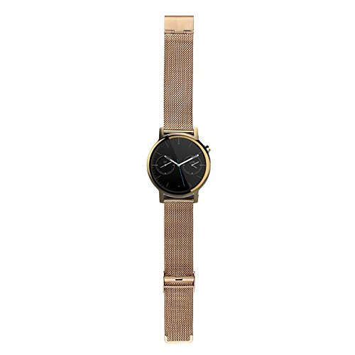 Gossip Uhrenarmband für Motorola Moto 360 2. Generation, Edelstahl, 42 mm, Unisex, gold