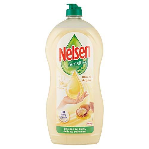 Nelsen Nelsen - Aceite de argán, detergente para platos a mano, elimina la grasa y las cruces, suave en las manos, 900 ml – 970 g