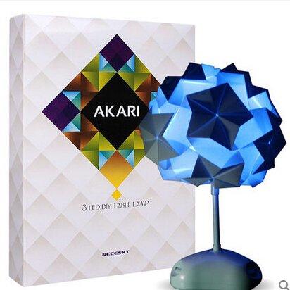 Adulto Ciencia DIY Papel Akari Leuchten–Lámpara de mesa de origami de colores