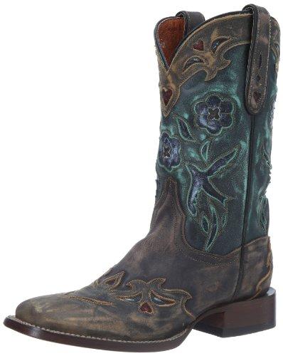 Dan Post Women's CC Bluebird Western Boot,Copper/Turquoise,8.5 M US