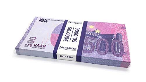 Cashbricks 100 x €500 Euro Spielgeld Scheine Bündel