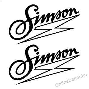 myrockshirt 2er Set Simson Schriftzug + Logo 20cm Mofa Moped Roller Aufkleber,Sticker,Decal,Autoaufkleber,UV&Waschanlagenfest,Profi-Qualität