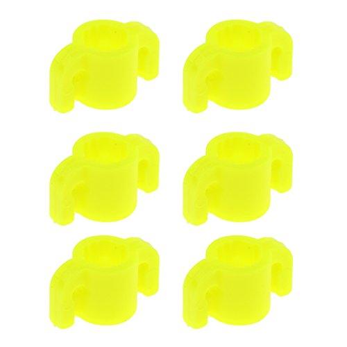 FLAMEER 6pcs Diapositivas De La Pesca del Tiro Al Que Cazan La Diapositiva De Seguridad Plástica del Bowfishing del Plástico Amarillo Hecho De Plástico Durable