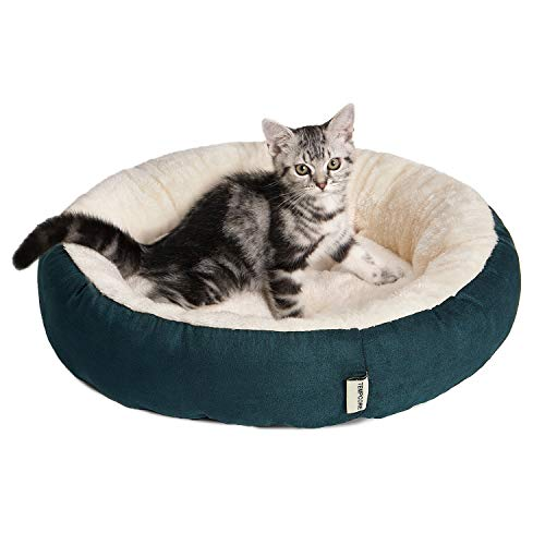 Tempcore Cat Bed for Indoor Cats, Machine Washable Cat Beds, 20 inch Pet Bed for Cats or Small Dogs,Anti-Slip & Water…