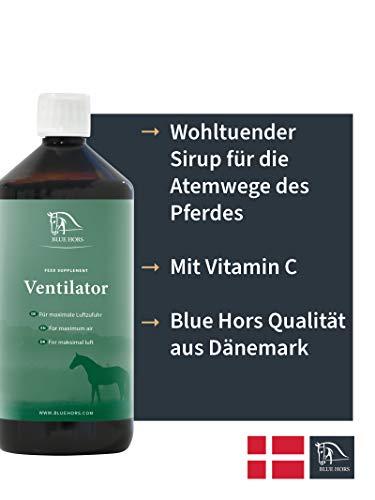 Blue Hors Ventilator - Ergänzungsfutter für Pferde, wohltuender Sirup für die Atemwege, maximale Luftzufuhr, bei Atemwegserkrankungen, Heustauballergie, Hustensaft für Pferde, Pferdehustensaft