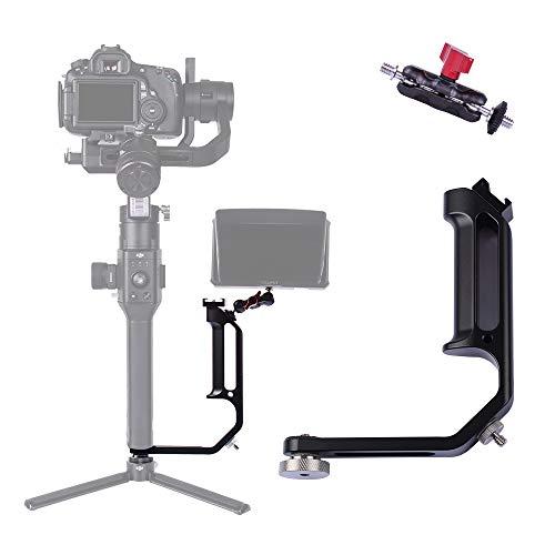 DIGITALFOTO Gimbal Zubehör M-0667II Griffgriff Neue L-Halterung zur Montage von Monitor oder Mikrofon mit Mini-Zaubergriff Kompatibel für Ronin S ZHIYUN Crane 2 / MOZA Air 2 / FEIYU-Gimbal-Griff