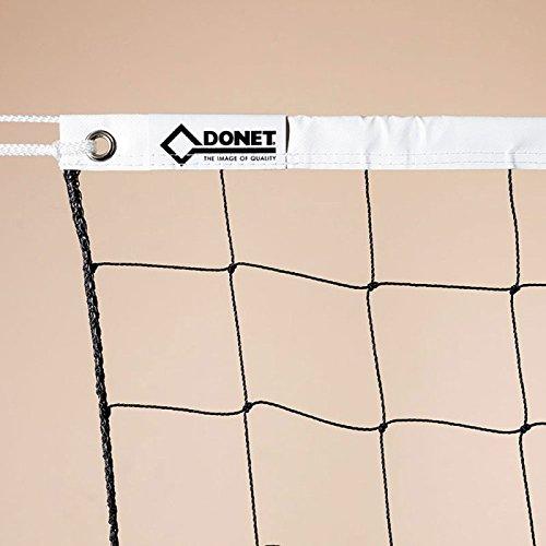 Donet Volleyball Freizeitnetz, ca. 2 mm ø, mit PE-Spannseil ca. 5 mm, 12 m, schwarz