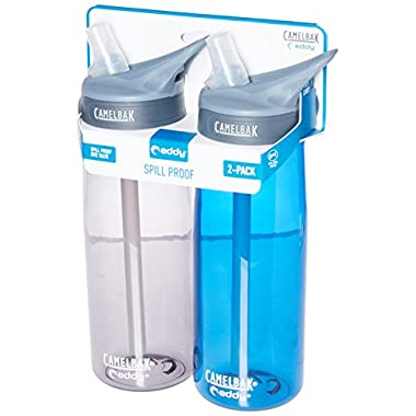 CamelBak Eddy 2-Pack Waterbottle, Charcoal/Oxford, 75 L