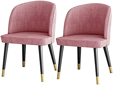FETYDSE Velvet Dining Chairs Set of 2,Soft Seat Kitchen Chair with Sturdy Metal Foot for Home Living Room Makeup Chair (Size